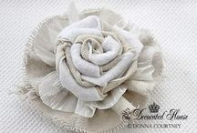 Fabric Flowers! / by Katie Biggers