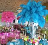 Holiday & Party Feather Decor / We understand how feathers not only make excellent embellishments for costumes, garments and accessories, but how they can also be incorporated into creative art projects, along with home, holiday & special event décor as well.