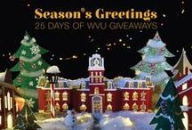 25 Days of WVU Giveaways / Follow WVU on Facebook (WVU Mountaineers) and Twitter (@westvirginiau) between Dec. 1 and Dec. 30, 2014, for a chance to win WVU licensed merchandise. Check this board to see some of the prizes, plus some free downloads! / by WVU - West Virginia University