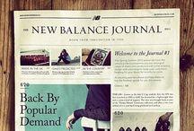 magazine/newspaper layout