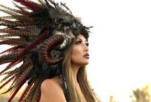 Feather Headdress / Feather Headdress, Feather Mohawks, Feather Headbands, Festival Fashion.