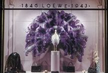Visual Merchandising | Feathers / Visual merchandising and store front window dressing with feathers.