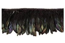 FEATHER | FRINGE | TRIMS / Handmade Feather Trims, Tapes & Fringes from The Feather Place