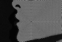 VIBRATING GRAPHICS / SCROLL AND ROLL OP ART          - ENJOY THE RID! / by Margo Nahas