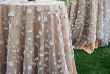 Ivory Weddings / Wedding tablecloths and special event linens for an ivory party.