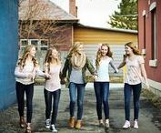 teen photography inspiration / Inspiration for your teen portrait session including ideas on posing, what to wear and best friend sessions.