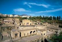 Herculaneum Ruins (Just 18 km from the B&B ) / #ercolano #herculaneum #ruins #scavidiercolano #pompeii #hotelpompei #villadeipapiri #pompei #excursions #travel #italy #faunopompei  Herculaneum was destroyed by an eruption of Mt. Vesuvius in AD 79, the same eruption that destroyed Pompei. - See more at: http://www.bbfauno.com/eng/archeological-sites/excavations-herculaneum.html L'antica città di Herculaneum venne distrutta dall'eruzione del Vesuvio (79), che la coprì con un'ingentissima massa di fango e cenere. Solo 20 minuti dal Fauno. / by B&B Pompei Il Fauno