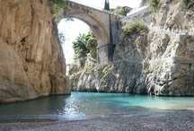 """Fiord of Furore - Amalfi Coast (Just 30 km from the B&B) / #furore #amalficoast #amalfi #italy #pompei #hotelamalfi #faunopompei #travel #sea #beach Furore, also known as """"the town that does not exist"""", with its deep fjord characterised by a wild beauty, the """"en plein air"""" murals and the small villages scattered along the slopes of the mountain; - See more at: http://www.bbfauno.com/eng/what-you-see/amalfi-coast.html Furore è famoso per il suo fiordo, ristretto specchio d'acqua ed un pittoresco borgo marinaro. / by B&B Pompei Il Fauno"""