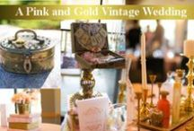 Blush Pink and Gold Wedding Decor / Beautiful ideas for a pink and gold wedding
