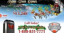 """Reindeer Games / We are fascinated with Reindeer this year. Enter our """"Trane"""" Deer Games to win a free Trane AC system.  https://www.home-tech.com/tranedeer/"""