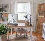 Office / Home office decor. Farmhouse style office