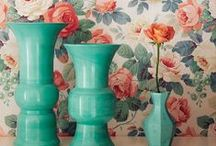 Corals and teal wallpapers / Such a lovely colour team we love coral and teal together.