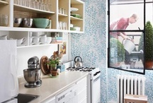Home Decor - Kitchen / A collection of light, bright, and comfortable kitchens. / by Fabric Paper Glue
