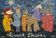 Hooked rugs/ Fabric Art