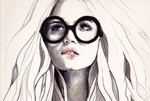 i l l u s t r a t i o n / Fashion illustration with watercolor