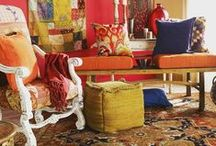Tribal: Moroccan, Ikat, and Southwestern / From the Western world to the East and all the way back.
