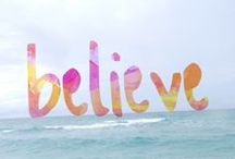 One Word: Believe