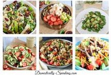 Salads / amazing salads that aren't just the same old garden variety / by Lindsey Voorhees