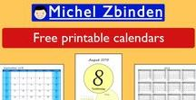 Free printable calendars / Large selection of free print calendars. Daily, weekly, monthly and yearly calendars. Ideal for the home, office or school. Organize your family life, children's activities, plan your work or your classes.