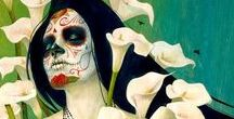 Day of the Dead / Sugar skulls, the Mexican festival, art, makeup, and anything else to do with the Day of the Dead