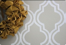 Wall Treatments - paint, stencil, tile, molding / by Abby Fox