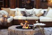 Trend  |  Chalet Chic / Cosy up beside the fireplace and surround yourself with sumptuous fur throws, warm copper accents and chunky knit accessories, transforming your home into a beautiful hilltop chalet > http://ow.ly/CkpCB / by Cox & Cox
