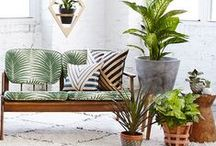 SS15  |  Trend  |  Modern Boho / We're taking influence from the 1970's and giving it a modern twist.  Natural materials mix with metal and glass for a cool, casual look. Bring it to life with lush green houseplants and succulents. / by Cox & Cox