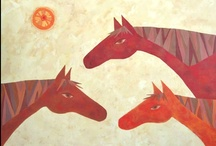 Casey Craig Animal Paintings / Mixed media paintings of stylized animals. See more on my website at www.caseycraig.com