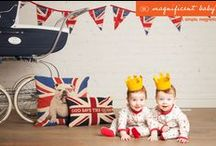 """An Heir Is Born - Royal Baby / Magnificent Baby honors the British Monarchy's new Royal Baby with """"An Heir is Born"""" - a unisex, limited edition collection suitable for both your little heirs and little heiresses. Designed in London the collection features crowns, trumpets, prams and golden rattles."""