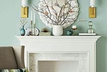 DECORATE FIREPLACE / by Emily B