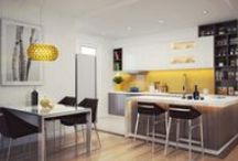 Decor - Kitchen / Interior Design and Decoration Ideas for the Kitchen area.