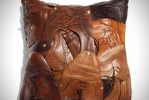 Leather / An array of leather things....from belts bags trunks and saddles...all stitched and carved, moulded or sculpted its leather inspiration....