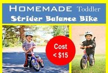 DIY Balance Bike / Make your're own balance bike! Use a balance bike to teach your toddler how to bike as young as 18 months!