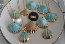 Seashell works 貝殻の作品