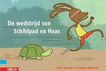 De wedstrijd van schildpad en haas, verwerkingstips / Verwerkingstips bij het prentenboek De wedstrijd van schildpad en haas over wedstrijd, sport, schildpad, haas, tijd en ehbo.