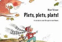 Plets, plets, plats! Verwerkingstips / Verwerkingstips bij het prentenboek Plets, plets, plats! over de herfst, eekhoorn, vogel, muis, bladeren, noten, eikels en knutselen.