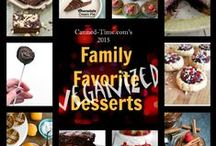 """2015 Family Favorite Desserts - 'Veganized' event on Canned-Time.com / In 2015, another best blogger competition each month on Canned Time. This time, it's traditional favorite family desserts that have been 'Veganized' to make delectable, """"cruelty-free"""" versions we can all enjoy. Stay tuned. The fun starts January 1st on Canned-Time.com"""
