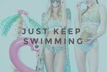 JUST KEEP SWIMMING / We are in love with our new swimwear and you should be too.