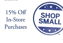 Small Business Saturday / Come on by and take an extra 15% off these clearance prices, tomorrow 11/24 only!