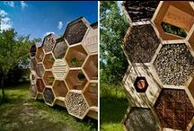 Beneficial Insect Shelters / Attracting beneficial insects in the garden can be done mostly with natural materials.  D.I.Y. #DIY #bees