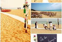 Beach wedding in Italy / Beach wedding ceremony and fairy tale castle in south italy