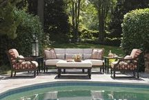 Tommy Bahama Outdoor Furniture / Tommy Bahama Outdoor Furniture is a natural extension of your indoor space, with built-in features like outdoor kitchens, fireplaces, bars, video screens and an array of plush seating. Every item is hand crafted, featuring artisan finishes that will dare you to distinguish outdoor designs from fine indoor furniture.  See more of the line here: http://www.carolinarustica.com/shop-by-brand/furniture/tommy-bahama-1/outdoor / by Carolina Rustica