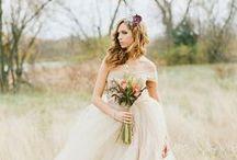 BLUSHING BRIDE / Wedding Day Hair, Makeup, and Dress {inspiration}