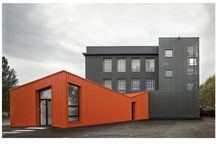 Current Project Thoughts - VC / Vernacular structure, modern execution. A mid-Kansas fabricator's shop. / by Jessica Miller