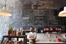 Lojas, cafés, restaurantes