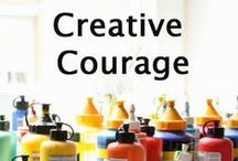 Creative Courage  / Inspiration board for our Creative Courage e-course - open to new and former participants, happy pinning!  More info about my new Creative Courageous Year e-course here: http://www.stephanielevy.com/creative-courageous-year / by Stephanie Levy