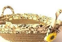 coiled baskets / by Jen's Sunshine Farm