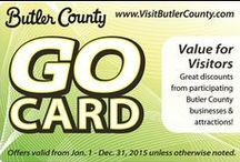 2015 GO Card / Featuring discounts from Butler County, PA attractions and businesses, our GO Card offers big savings on accommodations, shopping, dining and more!  All offers good January 1st through December 31st unless otherwise noted.  Cards are located in the center of the 2015 Official Visitors Guide which can be found in brochure racks around Butler County, PA. / by Butler County Tourism