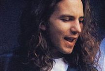 ★ Eddie Vedder ★ / Eddie Vedder (born Edward Louis Severson; December 23, 1964) is an American musician, singer and songwriter best known as a member of the rock band Pearl Jam, with whom he performs lead vocals and is one of three guitarists. He is known for his powerful baritone vocals.