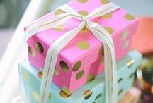 Gifts. / #Gifts #Gifting #GiftIdeas #GiftWrap #Wrapping #Presents  / by Christy Collins